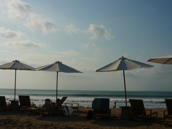 View of Kuta Beach from the Boardwalk in Bali