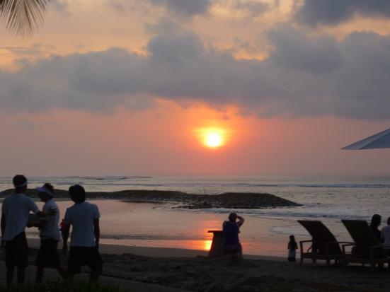 Kuta Beach Sunset at The Boardwalk in Bali