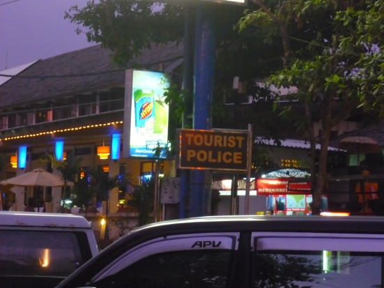 Tourist Police in Kuta, Bali