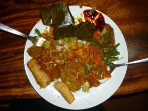 Putu - Bali Jepun's lovely hostess - wonderful Balinese dinner for our congratulatory TESOL finale evening