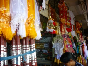 Religious ornaments at Denpasar Pasar