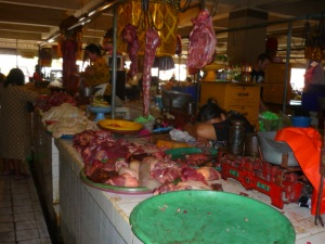 Meat stall at the Pasar in Denpasar