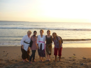 TESOL Graduates on last day of course at Seminyak Beach, Indonesia