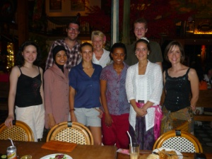 TESOL Graduates final photo together after completion of course at Made's Warung, Seminyak, Bali