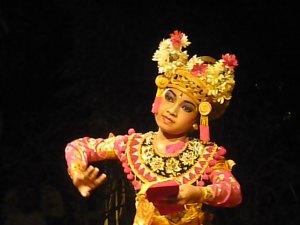 Balinese dancing at Made's Warung in Seminyak, Bali