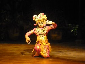 Balinese dancer at Made's Warung in Seminyak, Bali