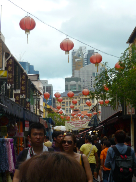 Bargain shopping in the markets of Chinatown, Singapore