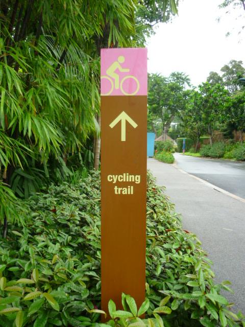 Cycle trail in Singapore