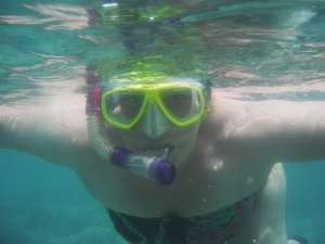 Susan under the sea in Gili Air, Lombok, Indonesia