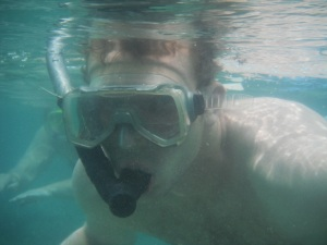 Brian under the sea in Gili Air, Lombok, Indonesia