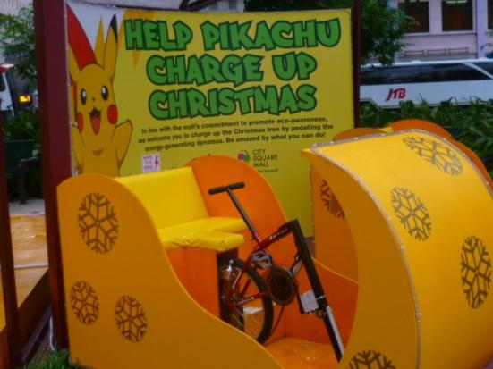 Have an 'eco-Christmas': pedal for Christmas lights!