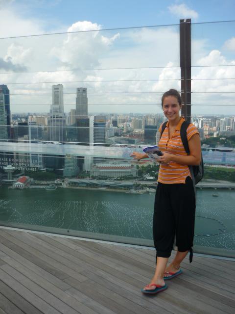 Lina at Skypark on Marina Bay Sands in Singapore