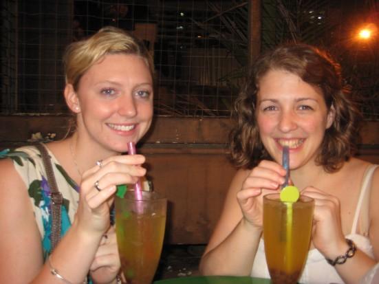 Jude and Pippa trying Bubble Tea in Kuala Lumpur, Malaysia