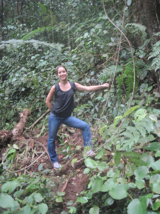 Lina when trekking in Cameron Highlands, Malaysia