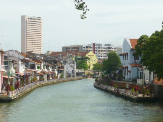 View of the river in Malacca, Malaysia