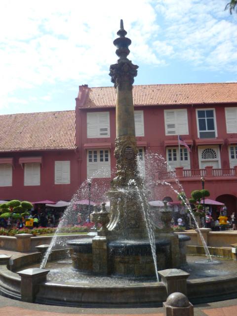 Water fountain in Town Square in Malacca, Malaysia