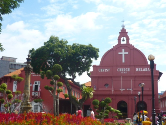 Christ Church in Malacca (sometimes also spelled 'Melaka'), Malaysia