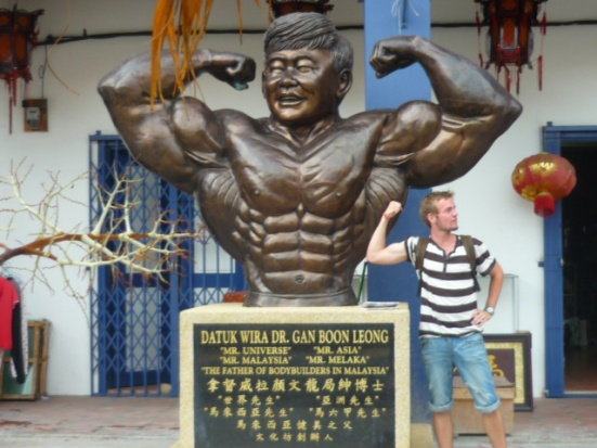 Christian with Mr Super Strong Malacca in Malacca, Malaysia