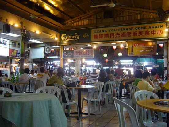 Food Court in Chinatown, Kuala Lumpur, Malaysia