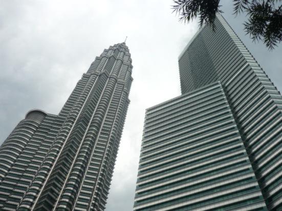 Petronas Towers with skyscraper in Kuala Lumpur, Malaysia