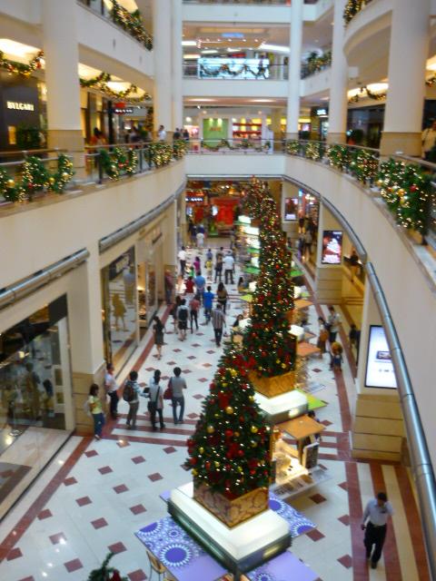Christmas Trees in Kuala Lumpur's KLCC at the Petronas Towers, Malaysia