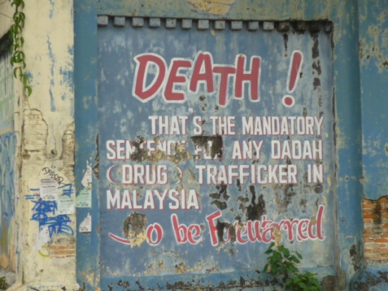 Street Mural highlighting repercussion of drug trafficking in Malaysia