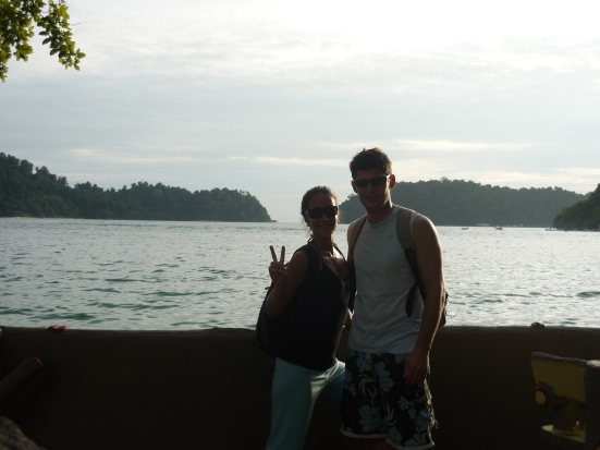 Nico and Lina in Pulau Pangkor for Christmas in Malaysia
