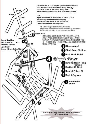 Ringos Foyer in Malacca, Malaysia - Map