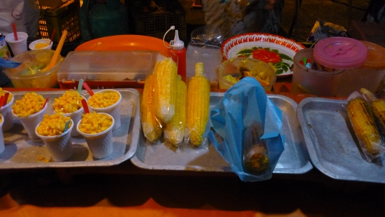 Jagung in a cup, Jagung on a cob... some stalls even serve Jagung soup. Kuah Night Market, Langkawi, Malaysia