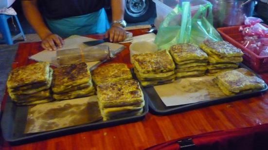 Chicken and beef murtabak in Kuah Night Market, Langkawi, Malaysia