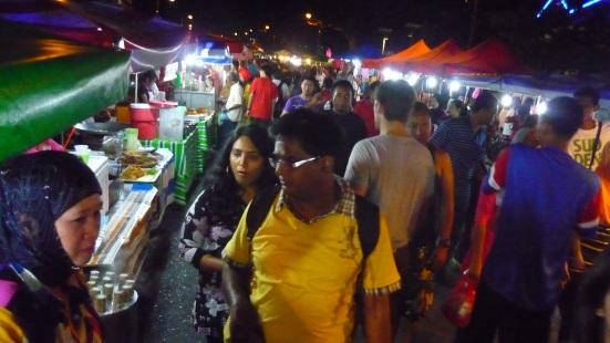 Nico in Kuah night market in Langkawi, Malaysai