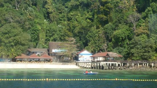 Dock at Pulau Payar off Langkawi in Malaysia
