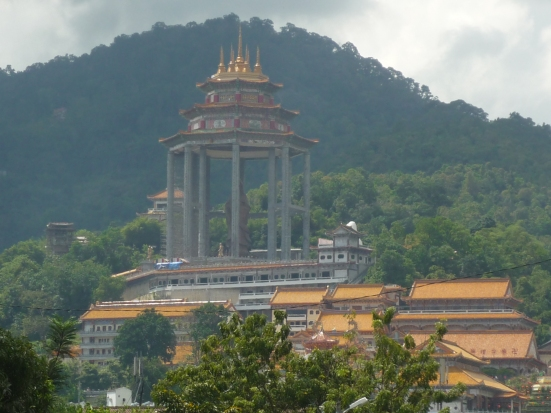 View of the largest Buddhist temple in Malaysia - Kek Lok Si - in Penang, Malaysia