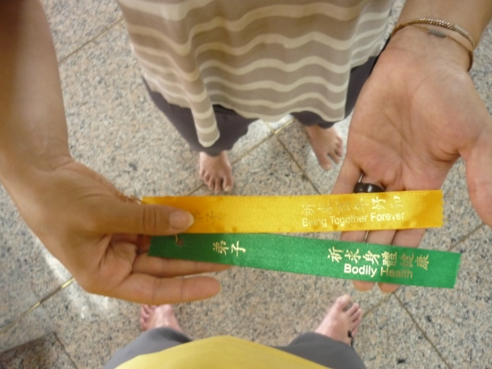 Nicolina's Wishing Ribbons - 'Together Forever' and 'Bodily Health' - in Kek Lok Si Buddhist Temple in Penang, Malaysia