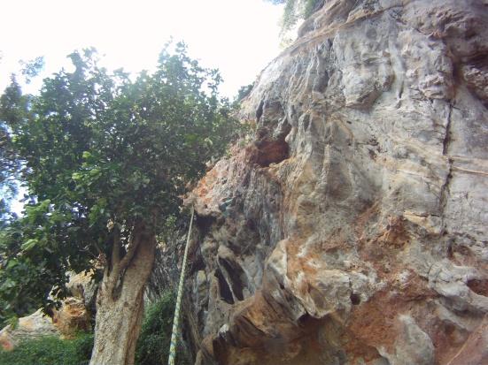 Climbing in Tonsai-Railay, Thailand