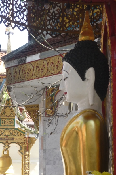 Profile view of Buddha statue at Doi Suthep, Chiang Mai, Thailand