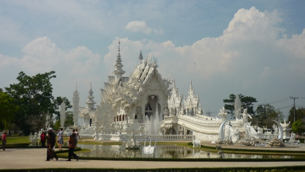 The majestic 'White Temple' at Chiang Rai in Northern Thailand