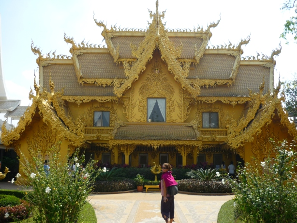 The Gold Temple opposite the White Temple in Chiang Rai, Thailand