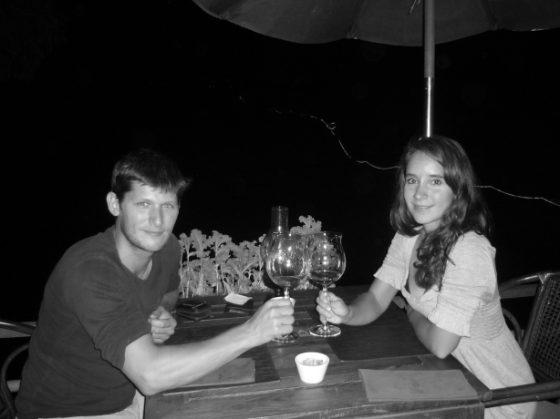 Valentine's Day dinner in Luang Prabang, Laos