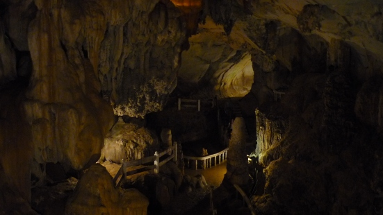 Interior of cave in Vang Vieng, Laos