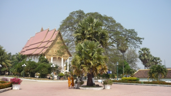 Temple near Pha That Luang in Vientiane, Laos