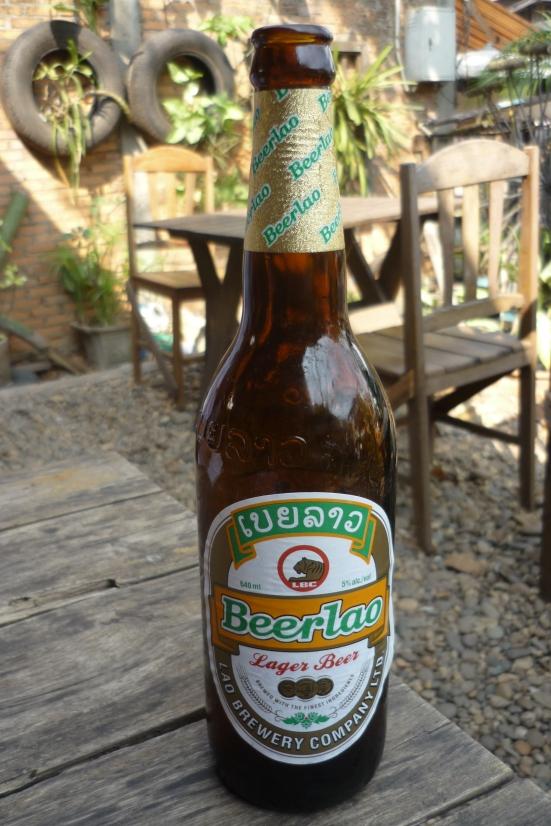 Bottle of Refreshing Beer Lao