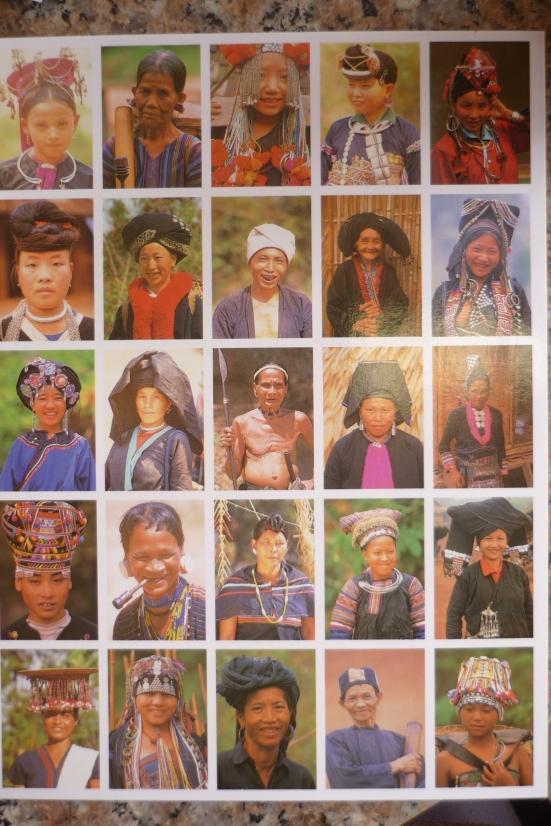 My favourite postcard! Lao ethnic minorities