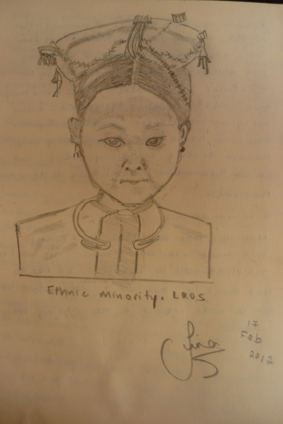 Lao girl sketch