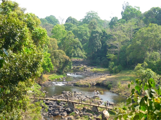 Stream preceeding Yuano Waterfalls at the Bolaven Plateau in Southern Laos