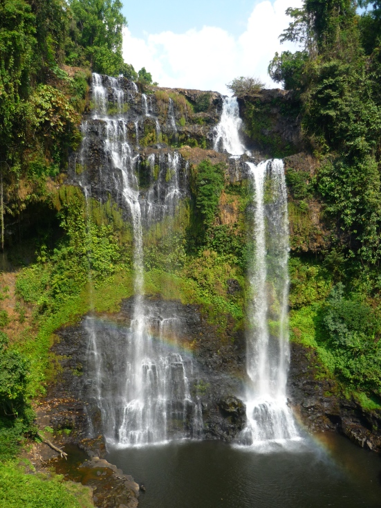 Yuano Waterfall on Bolaven Plateau in Southern Laos