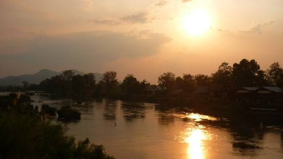 Nico's shot of a spectacular sunset in Si Phan Don, Laos