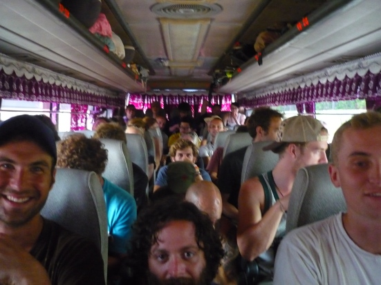 Our overcrowded Paramount bus from Cambodian border to Kratie