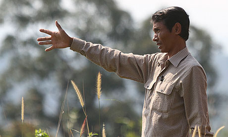 Chut Wutty at a Cambodian national park where he exposed illegal logging (Source: http://www.guardian.co.uk/world/2012/apr/26/cambodia-police-shoot-dead-antilogging-activist)
