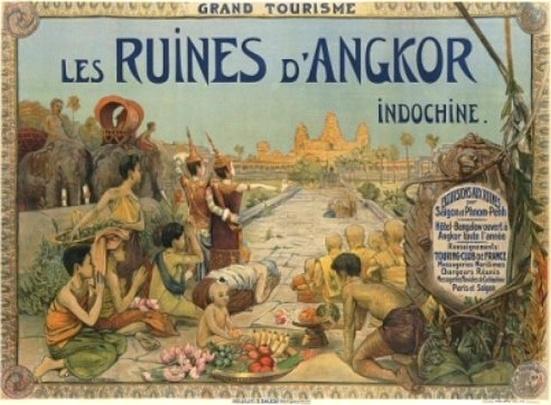 Les ruines d'Angkor (Source: Georges Groslier, Paris, 1911) (Website: http://en.wikipedia.org/wiki/File:AfficheAngkorGroslier.jpg)